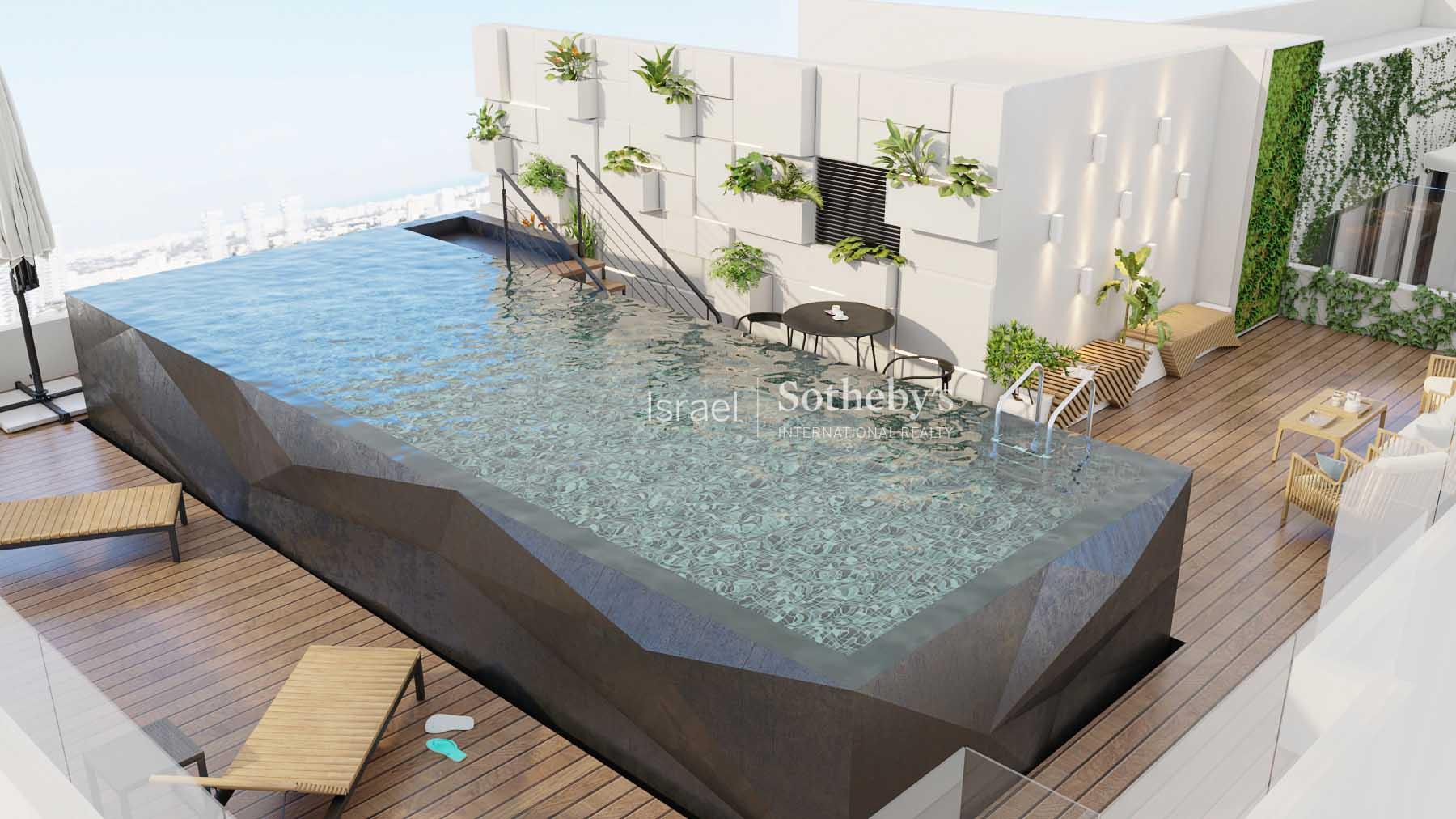 Пентхаус с бассейном в новом доме